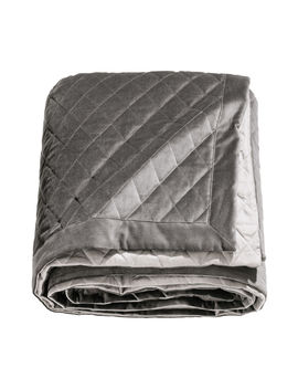 Quilted Velvet Bedspread by H&M