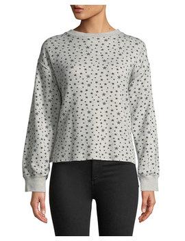 The Slouchy Crewneck Star Pattern Crop Sweatshirt by Current/Elliott
