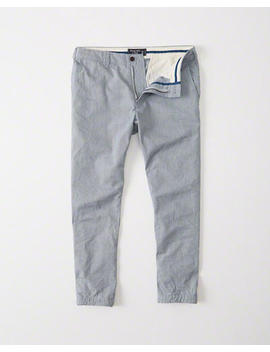 Indigo Cropped Chino Pants by Abercrombie & Fitch