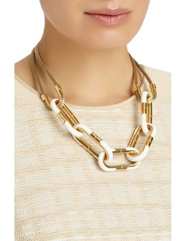 Libre Link Statement Necklace by Lafayette 148 New York