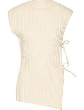 Tie Side Ribbed Wool Top by Jacquemus