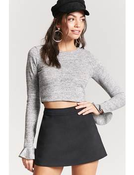 Heathered Knit Crop Top by F21 Contemporary