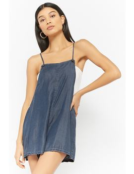 Chambray Overall Shorts by Forever 21