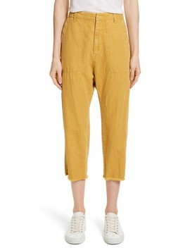 Luna Cotton & Linen Twill Crop Pants by Nili Lotan
