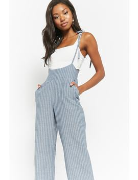 Pinstriped Cami Overalls by Forever 21