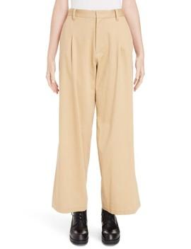 Pleated Split Hem Pants by Y's By Yohji Yamamoto