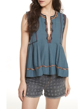 Isabel Marant Étoile Barney Embroidered Top by Isabel Marant Etoile