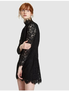 Jerome Lace Mini Dress In Black by Need Supply Co.