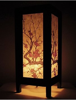 Thai Vintage Handmade Asian Oriental Classic Leaf Leaves Bamboo Tree Art Bedside Table Light Or Floor Wood Paper Lamp Shades Home Bedroom Decor Modern Design From Thailand by Amazon