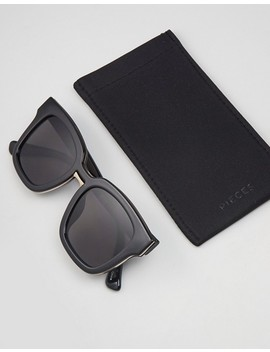 Pieces Square Frame Sunglasses With Black Lens by Pieces