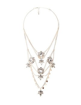 Crystal Multi Layered Chain Necklace by Charlotte Russe