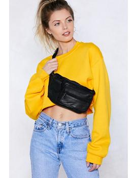 Bag It Leather Fanny Pack by Nasty Gal