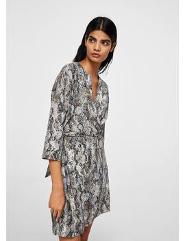 Snake Print Gown by Mango
