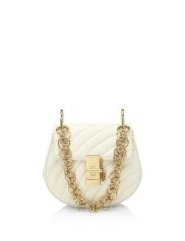 Small Quilted Drew Goldtone Jewelry Detail Leather Bag by Chloé