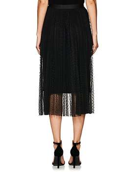 Dot Embroidered Tulle Midi Skirt by Robert Rodriguez