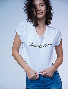 Charlotte Russe Graphic Crop Tee by Charlotte Russe
