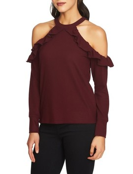 The Cozy Cold Shoulder Knit Top by 1.State