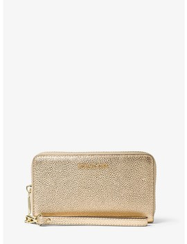 Mercer Large Metallic Leather Smartphone Wristlet by Michael Michael Kors