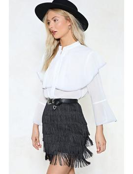 Cape It Between Us Chiffon Top by Nasty Gal