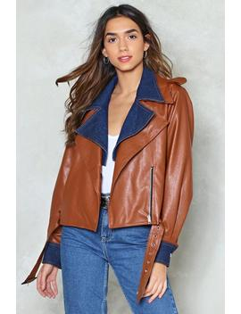 Ride It Out Vegan Leather Moto Jacket by Nasty Gal