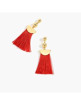 Gold Tassel Earrings by J.Crew