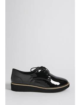 Faux Patent Leather Oxfords by F21 Contemporary