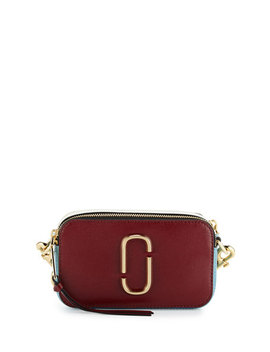 Snapshot Small Colorblock Camera Bag, Dark Cherry by Neiman Marcus
