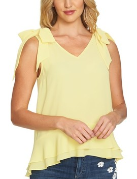 Tie Shoulder Layered Blouse by Cece