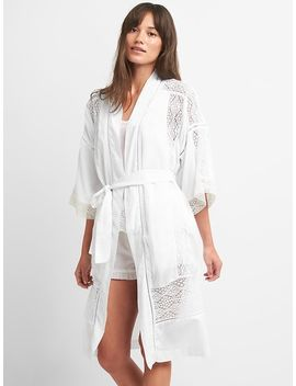 Dreamwell Lace Trim Robe by Gap