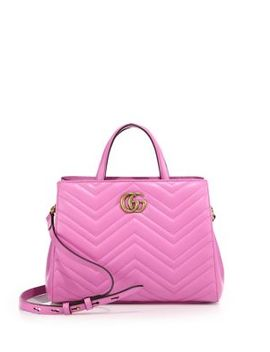 Gg Marmont Matelassé Leather Top Handle Tote by Gucci