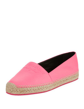 Hodgeson Logo Neon Leather Espadrille Flat by Burberry