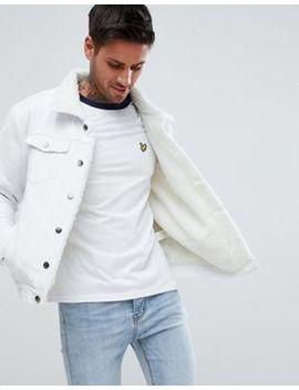 Boohoo Man Denim Jacket With Fleece Lining In White Wash by Boohoo Man