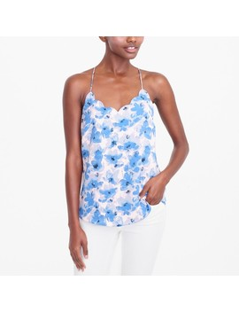 Printed Scalloped Cami Top by J.Crew