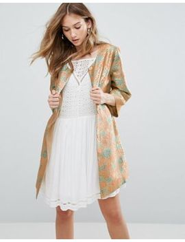 Traffic People Jacquard Bloom Coat by Coat