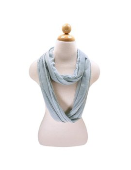 Elegant Solid Color Infinity Loop Jersey Scarf by Trends Blue