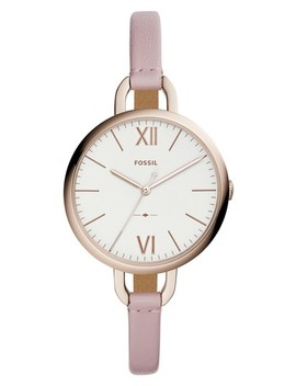 Annette Leather Strap Watch, 36mm by Fossil