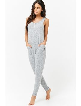 Sweater Knit Pj Jumpsuit by F21 Contemporary