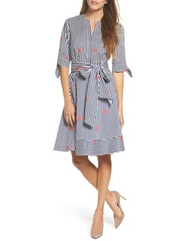 Bella Tie Front Fit & Flare Shirtdress by Felicity & Coco
