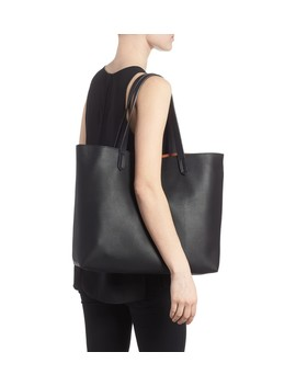 Contrast Lining Faux Leather Tote by Bp.