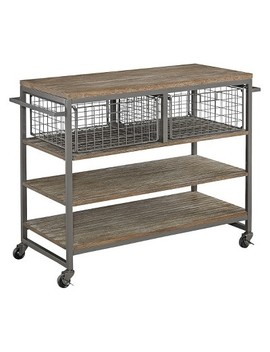 Barnside Metro Kitchen Cart   Gray   Home Styles by Home Styles