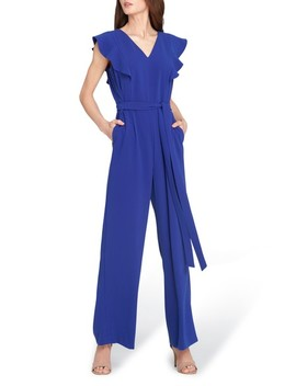 Flutter Sleeve Jumpsuit by Tahari