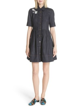 Embroidered Denim Shirtdress by Kate Spade New York