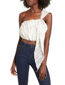 Vanessa One Shoulder Crop Top by Tularosa