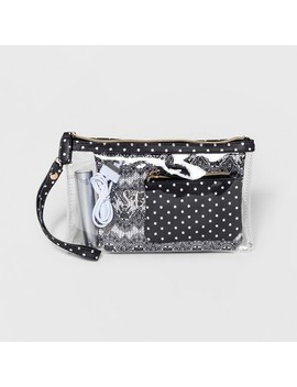 Under One Sky Dots Charger Clutch Trio   Black/White by Under One Sky