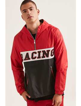 Racing Graphic Anorak Jacket by Forever 21