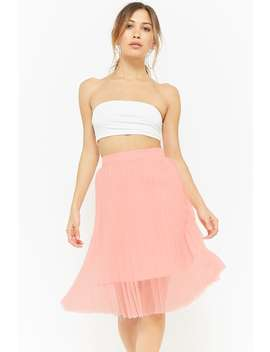 Sheer Accordion Pleated Skirt by Forever 21