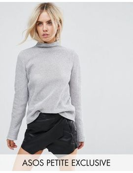 Asos Petite Top In Chain Mail by Asos Petite