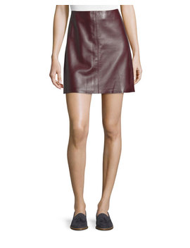 Irenah Wilmore Leather Miniskirt by Theory