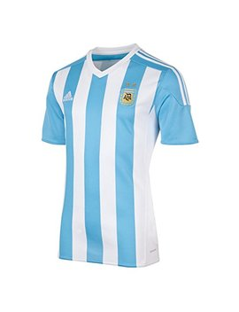 Adidas Argentina Home Climacool Soccer Jersey (White, Blue) by Adidas
