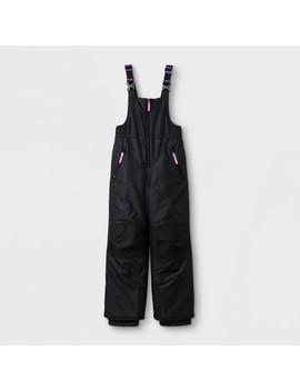 Girls' Snow Bib Outerwears C9 Champion®   Black by C9 Champion®